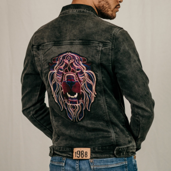 Purple Lion Black Demin Jacket