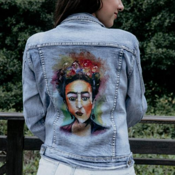 Frida Khalo Inspired Hand Painted