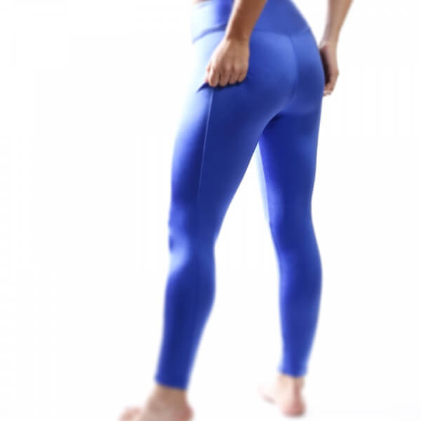 Blue legging spanx active high rise yoga style