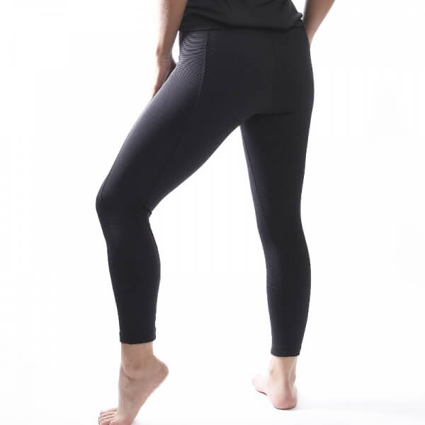 Black Texture + cierre legging spanx active high rise - Cycling / Running style