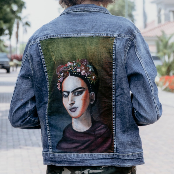 Frida Khalo Hand Painted
