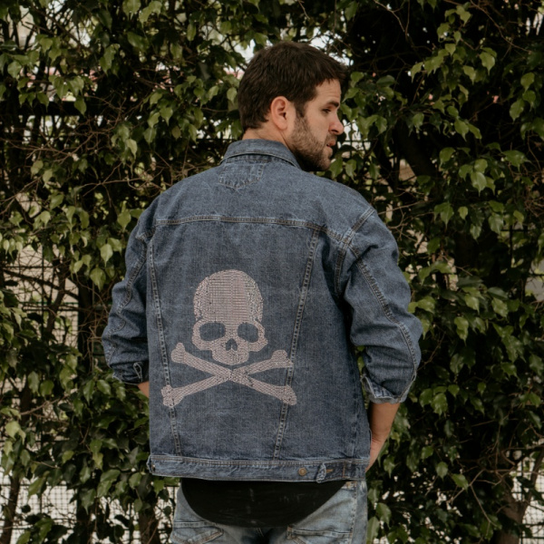 Pirate´s Skull Demin Jacket for Men